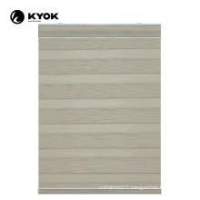 KYOK pattern printed pvc motorised zebra blinds