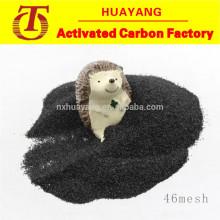 Alta dureza corindo preto / alumina fundida para aço inoxidável