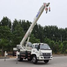 Leading for Small Truck Lift Mobile Crane EURO IV 10 Ton Telescopic Boom Truck Crane supply to Singapore Manufacturers