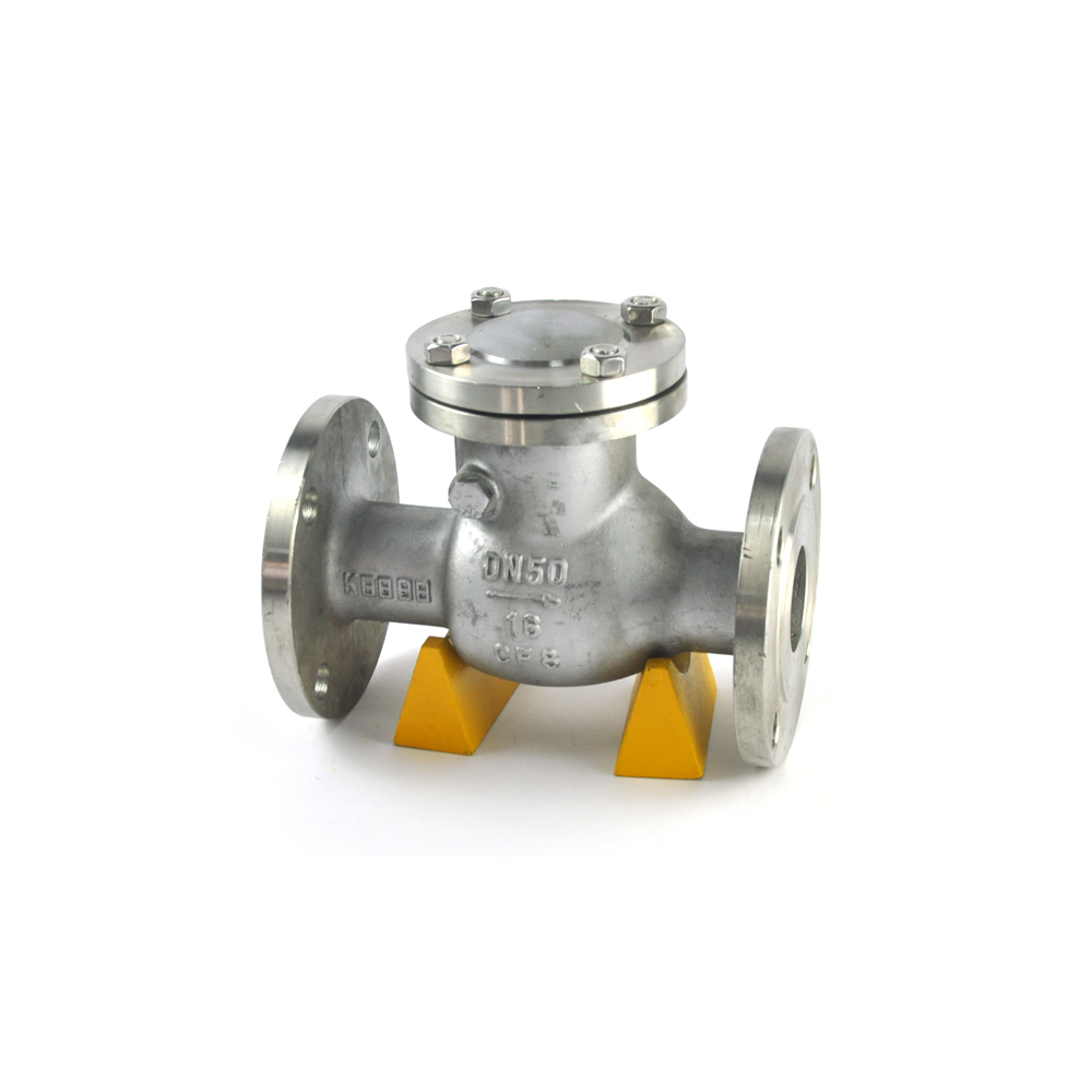 stainless steel double check valve din wafer type tilting check valve wcb