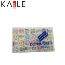 Mesas Domino avec boîtier en plastique à motif populaire