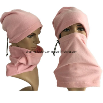 Pink 100% Polyester 210gram Fleece Men Women Outdoor Sport Neck Warmer