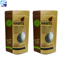 Ziplock kraft paper bag food packaging with window