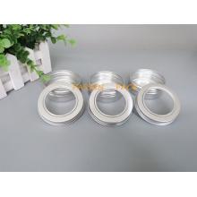 60ml Silber Aluminium-Tusdose mit Fensterdeckel (PPC-ATC-60)