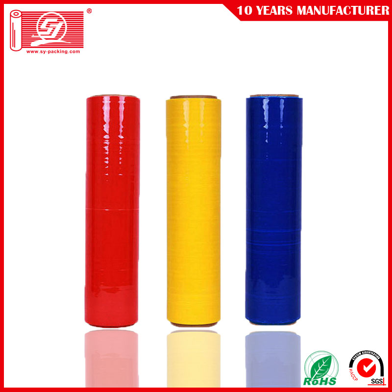 Red+Color+LLDPE+Handy+Wrap+Stretch+Film