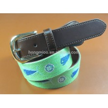 man's fashion embroidery leather belt