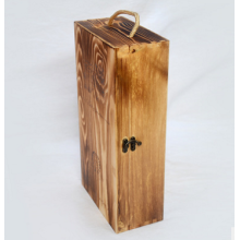 Customize Wooden Wine Packing Gift Box 2 Bottles