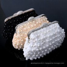 Perles de perles Femmes Evening Clutch Bag Sac de mariée pour la soirée de mariage Usage des sacs à main nuptiales B00012 sacs de mode sacs à main en dames