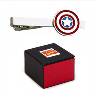Engravable Captain America Men's Tie Bar Clip