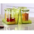 4pcs Seasoning Box Set Holder Spice Rack