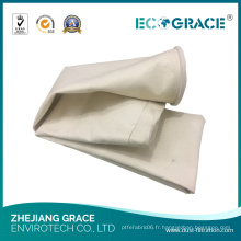 Sac de filtre de 130 * 6000mm PE / matériel de filtre d'usine de ciment de filtre de la poussière