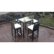 Luxury All Weather Resin Wicker Bar Set For Home Patio / Ba