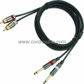 DR Series Dual RCA to Mono Jack RCA Cable