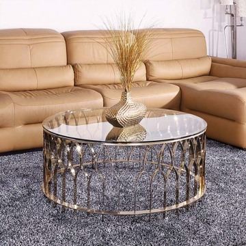 Modern Stylish Round stainless steel coffee table