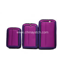 Eva travel luggage with contrast color