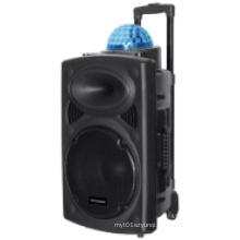 Top Ball Line-in Bluetooth Rechargeable Wireless Trolley Karaoke Speaker