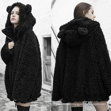 OPY-387 PUNK RAVE Loose casual jacket with hat korea winter coats with hood women clothing