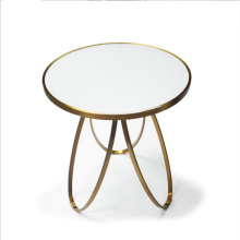 Table basse ronde design en acier inoxydable