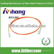 SC multimodo simplex fibra óptica cable de remiendo fabricante con alta calidad
