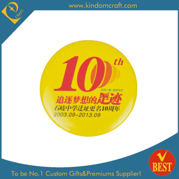 Anniversary Celebration Tin Button Badge for Souvenir