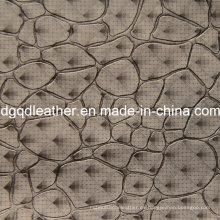 Cuero de decoración de patrón de moda de cuero muebles (QDL-51383)