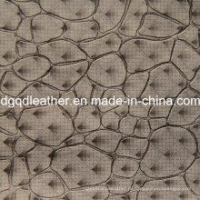 Мода камень шаблон украшения мебели кожаный (qdl по-51383)