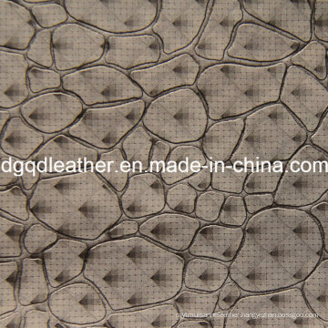 Fashion Stone Pattern Decoration Furniture Leather (QDL-51383)