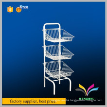 High quality decorative 3 tiers portable metal free standing literature display stands