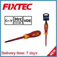 Fixtec Hand Tools 100mm Insulated Pozidriv Screwdriver with Insulation Handle