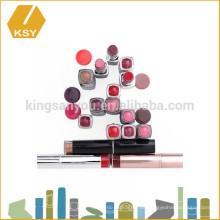 Taiwán cosméticos fábrica de maquillaje personalizado vacío lápiz labial de plástico tubo