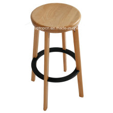Colorful High Quality Footrest Wooden Bar Stool (SP-EC618)