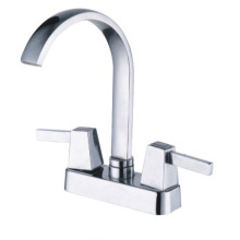 A quarter of turn double lever basin faucet