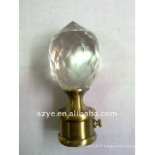 Ponceaux à rideaux en diamant à haute transparence