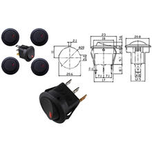LED Light 12V Rocker Switch Spst Toggle Switch