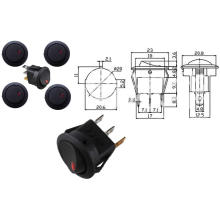 Светодиодный свет 12V перекидной переключатель spst тумблер