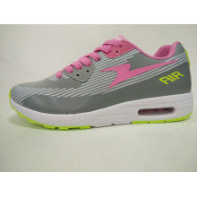 Zapatos de deportes de punto de color gris brillante