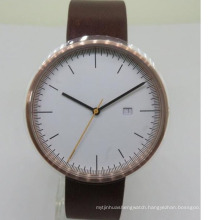 New style leather watch straps custom golden cute couple watch for man