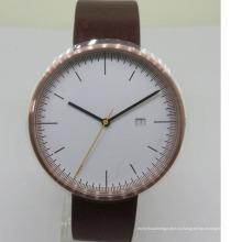 Новый стиль кожаные ремешки для часов на заказ золотого милая пара часы для мужчин