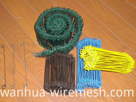 pvc coated yellow double loop wire ties (1)