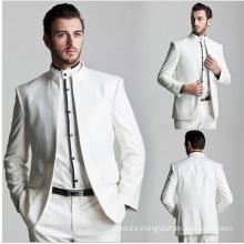 Traje de los hombres por encargo del vestido formal 2017 traje de los nuevos hombres del diseño blanco
