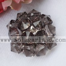 Handmade Acrylic Crystal Artificial Flower With Diamond Beads