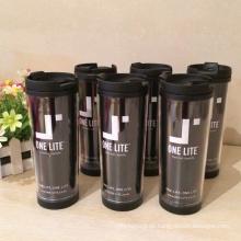 Plastik äußere Edelstahl-innere bequeme Kaffeetassen