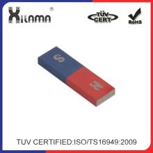 Imán AlNiCo de la barra roja y azul