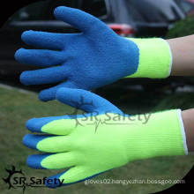 SRSAFETY 7G Acrylic Nappy Knitted super safe latex gloves for maintenance