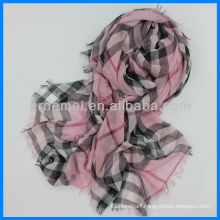 Custom made plaid nursing scarf polyester