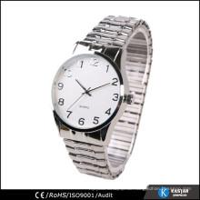 Japan-Quarz-Mode-Männer, elastische Armbanduhr