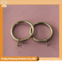 hot design fashion decorative black metal curtain rings