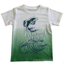 Boy T-Shirt for Children Clothes with Water Print in Soft Quality Sqt-606