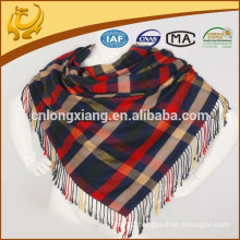 100% Cotton Plaid Style Wholesale Factory Price Scottish Pashmina Shawl Scarf For Women