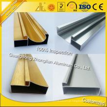 Perfil de alumínio dos armários de cozinha da fonte da fábrica para Furiture